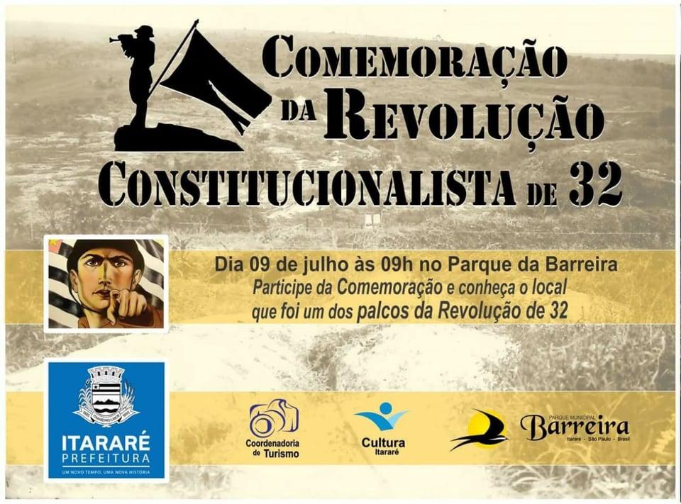 Prefeitura de Itararé (SP) promove ato cívico no Dia da Revolução Constitucionalista