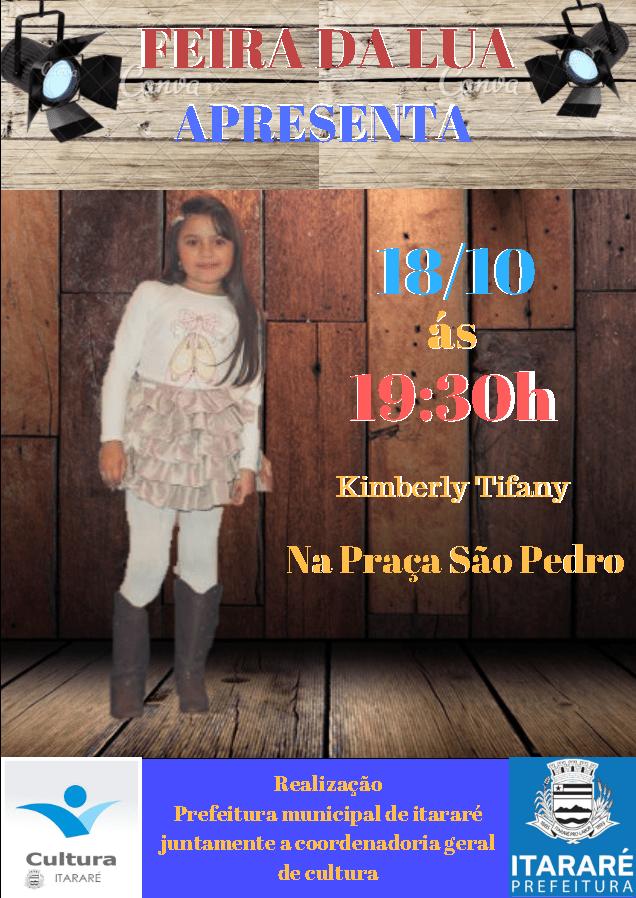 Quarta-feira (18) tem Kimberly Tifany na Feira de Lua em Itararé (SP)