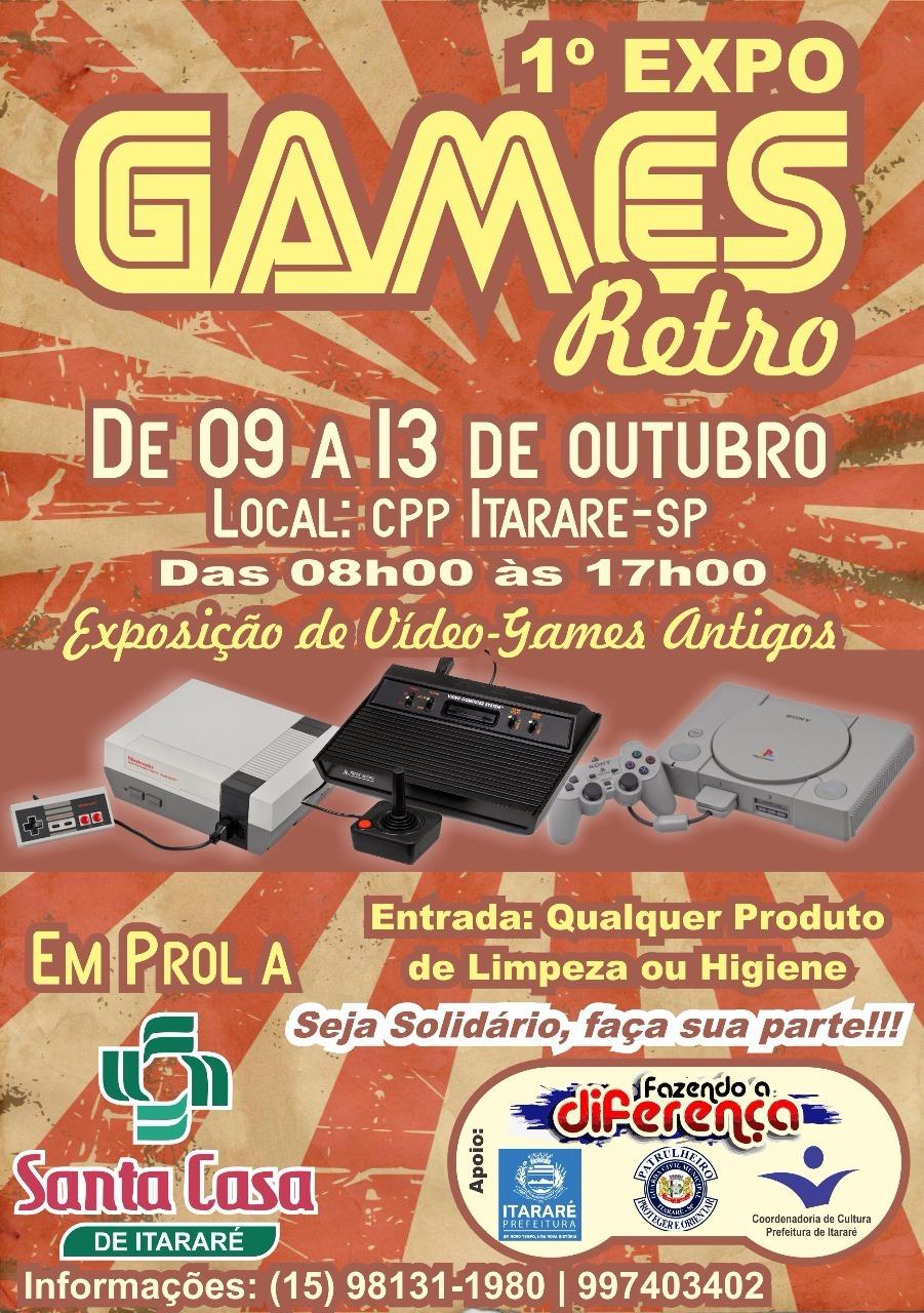 Primeira Expo Games Retro em Itararé (SP) começa nesta segunda-feira (09)