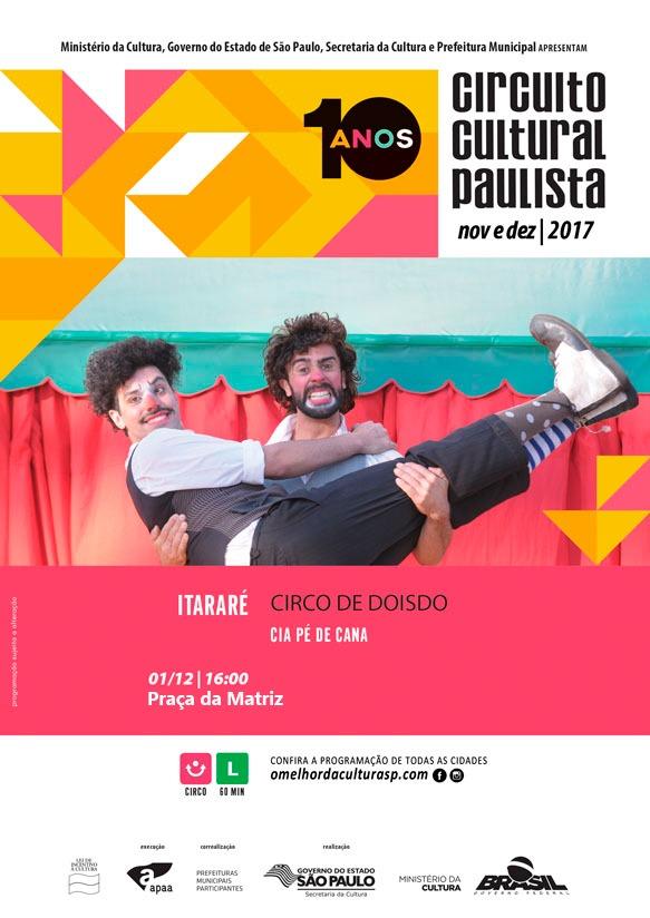 Itararé (SP) recebe 'Circo de doisdo' nesta sexta-feira (01)