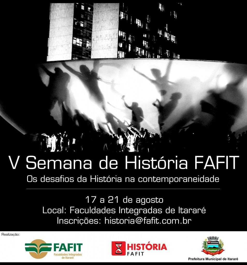 V Semana de História oferece palestras, oficinas e música regional em Itararé