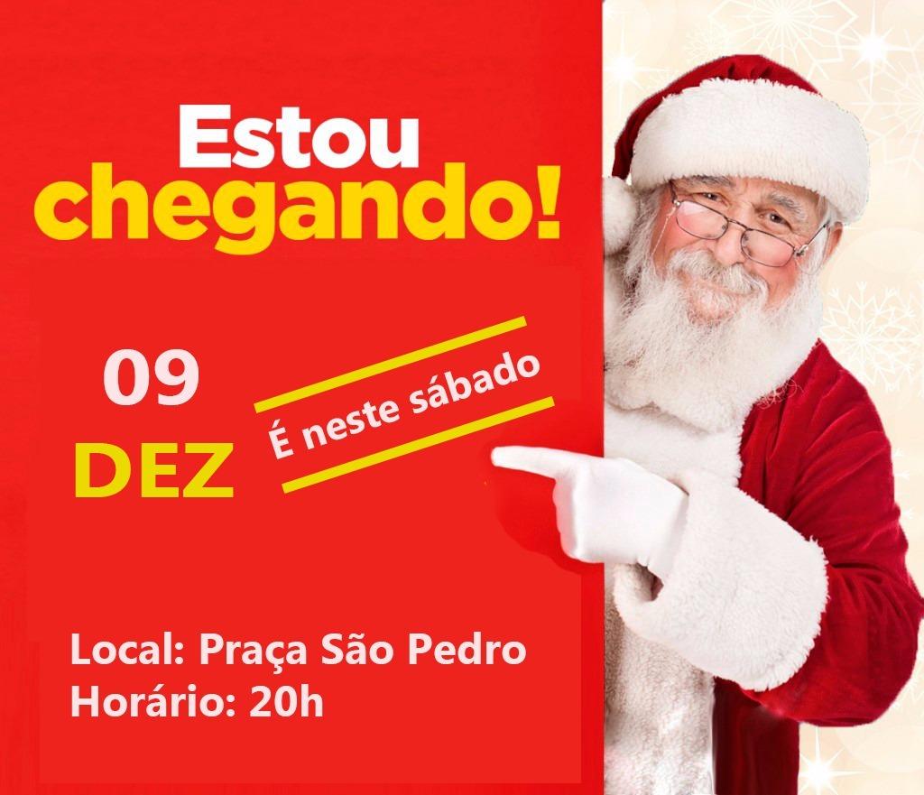 Papai Noel chega neste sábado (09) em Itararé (SP)