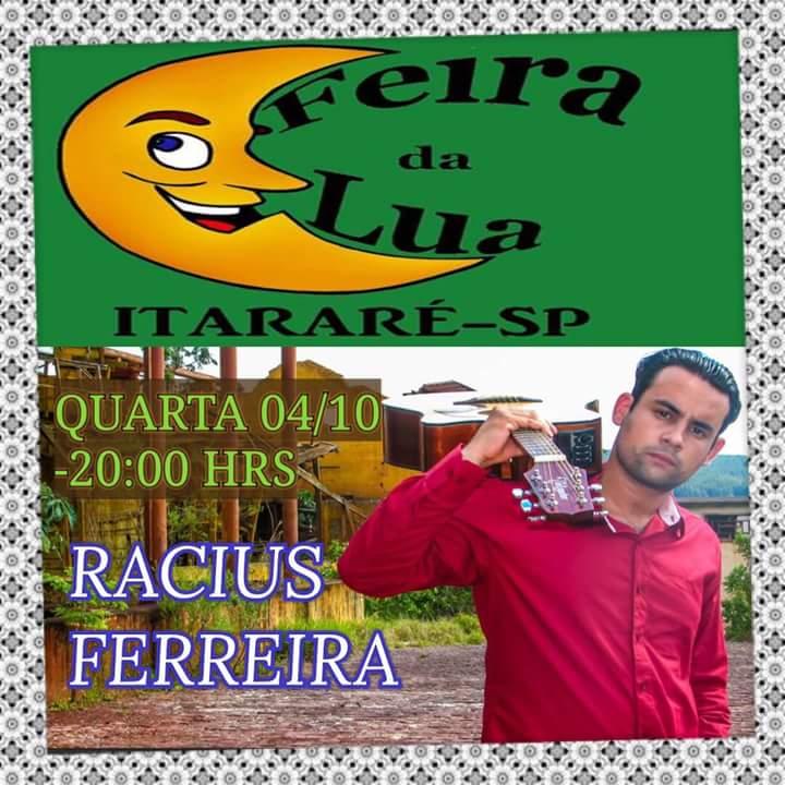 Feira da Lua em Itararé (SP) apresenta Racius Ferreira nesta quarta-feira (04)