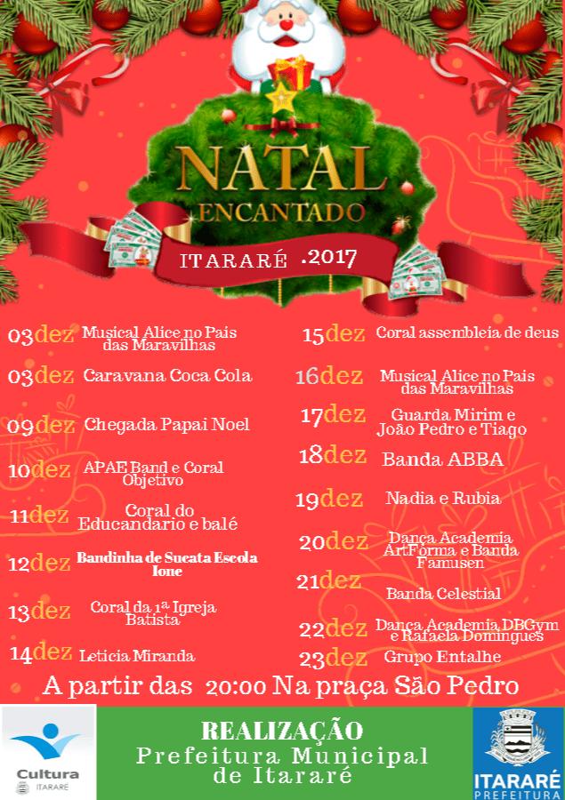 Programação de Natal em Itararé (SP) segue até dia 23