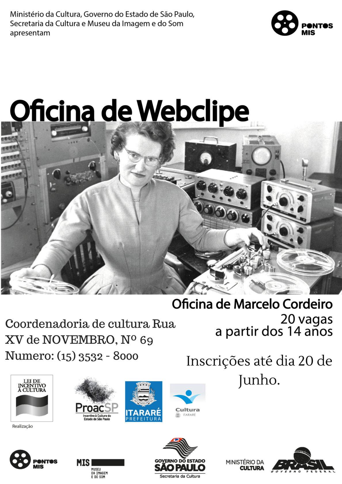 Inscrições para Oficina de Webclipe terminam nesta quarta-feira (20) em Itararé (SP)