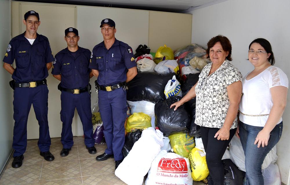 Guarda Municipal de Itararé recebe doações para o município de Itaóca