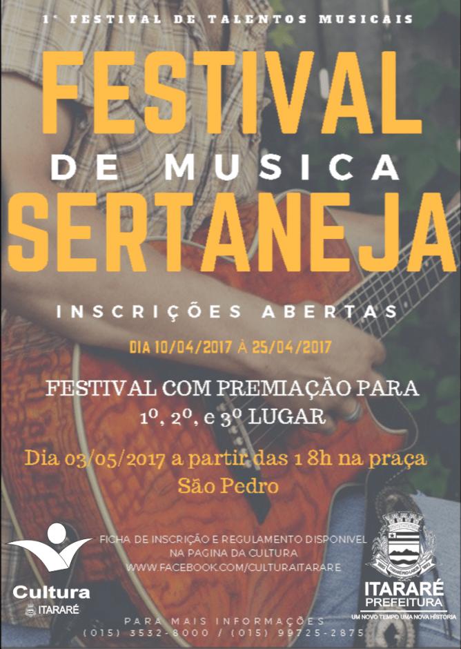 Abertas as inscrições para 1º Festival de Música Sertaneja de Itararé