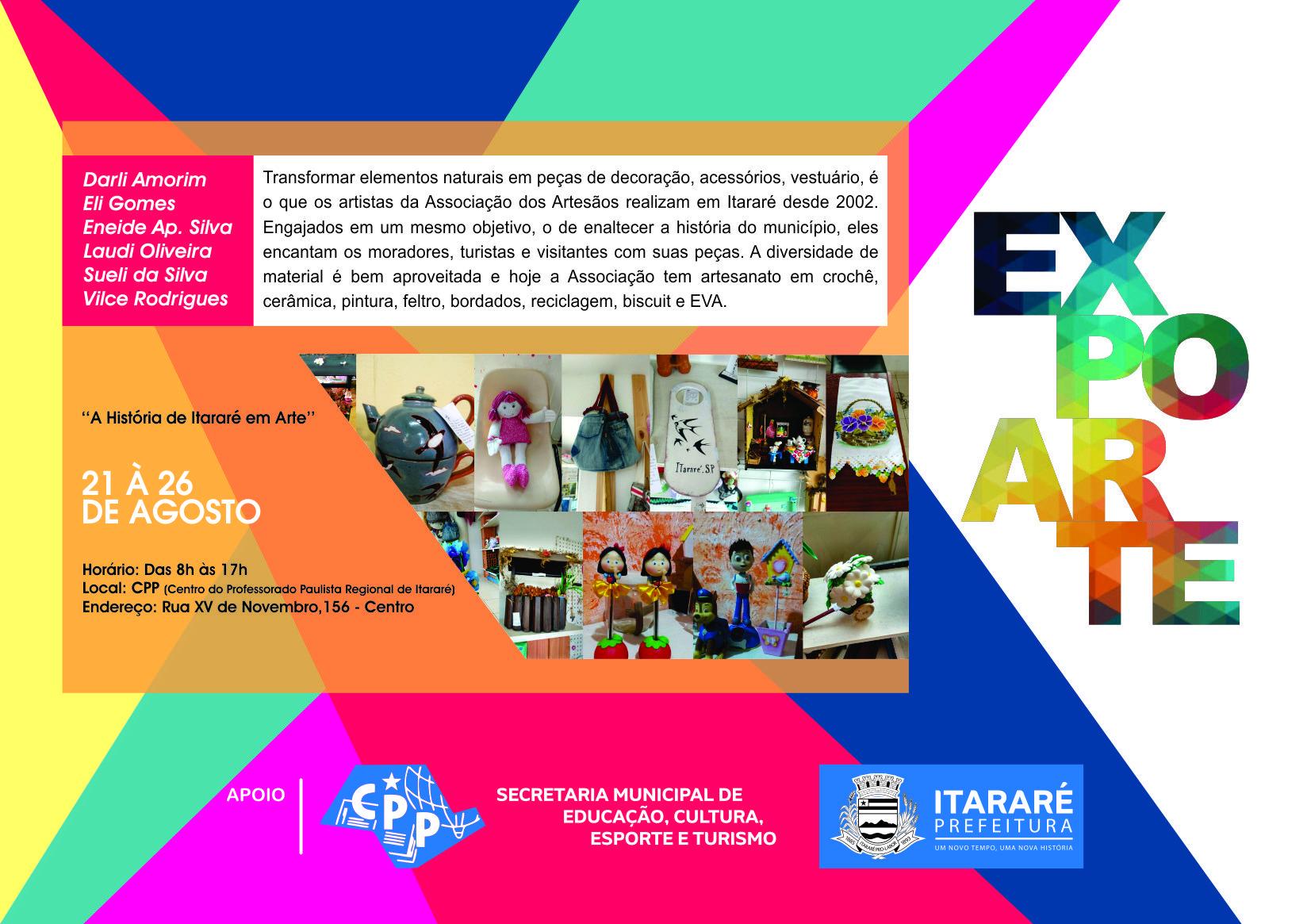 Quinta edição da ExpoArte de Itararé conta história do município