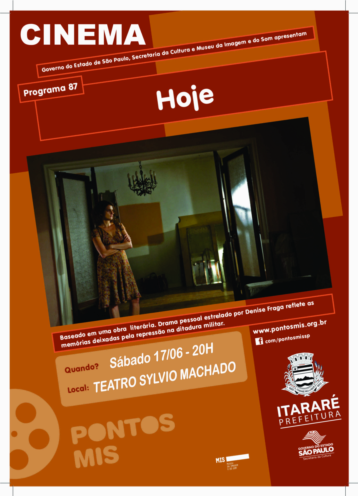 Sábado (17) tem 'Hoje' no festival de tramas e dramas do Cinema Gratuito de Itararé (SP)