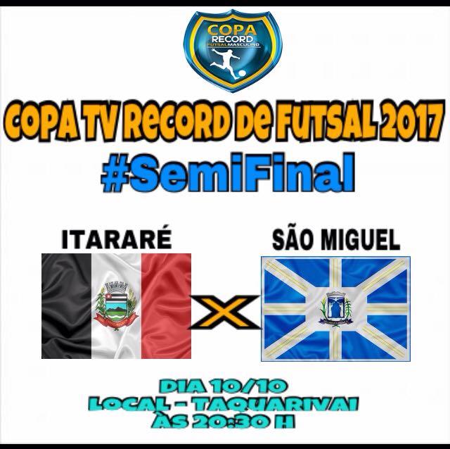 Futsal de Itararé (SP) enfrenta São Miguel Arcanjo (SP) nesta terça-feira (10)