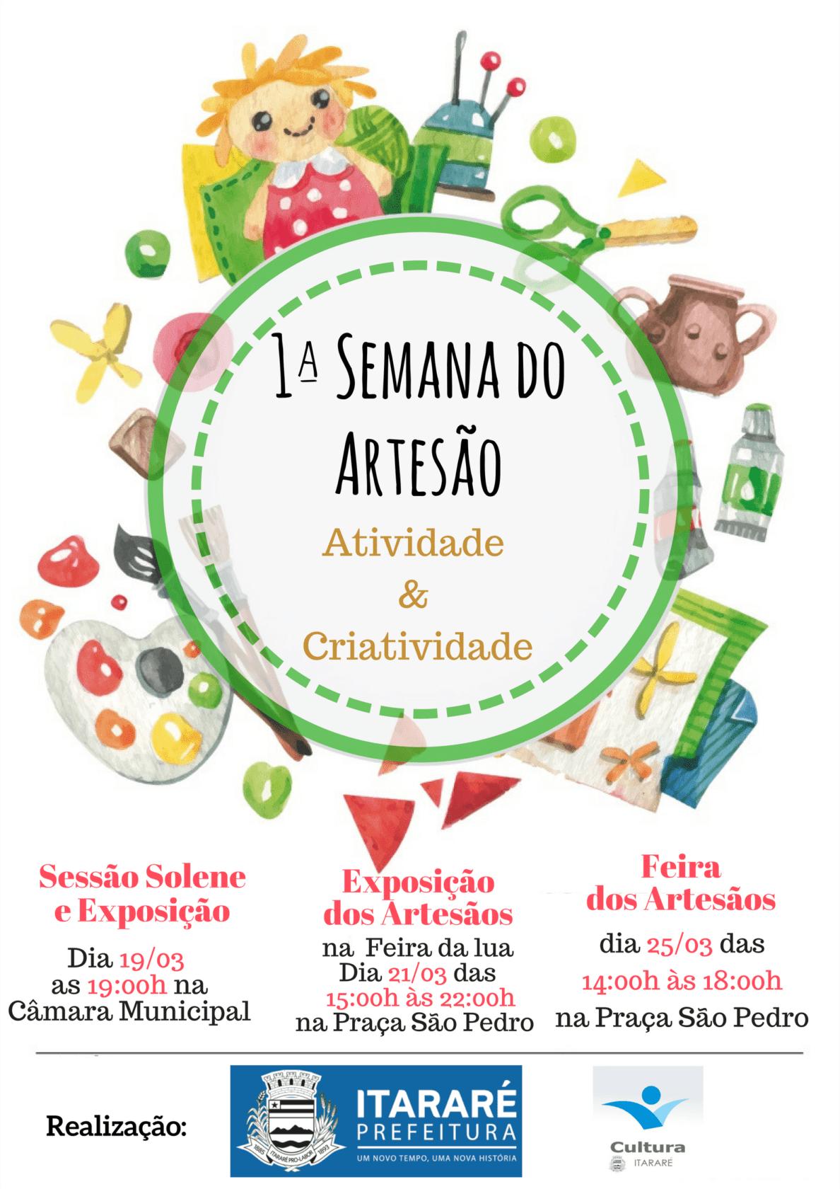 'Semana do Artesão' começa nesta segunda-feira (19) em Itararé (SP)