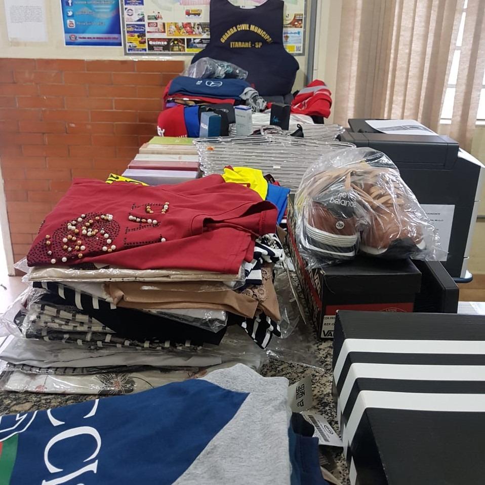 GCM de Itararé (SP) prende autores de furto e recupera mais de R$ 5 mil em mercadorias