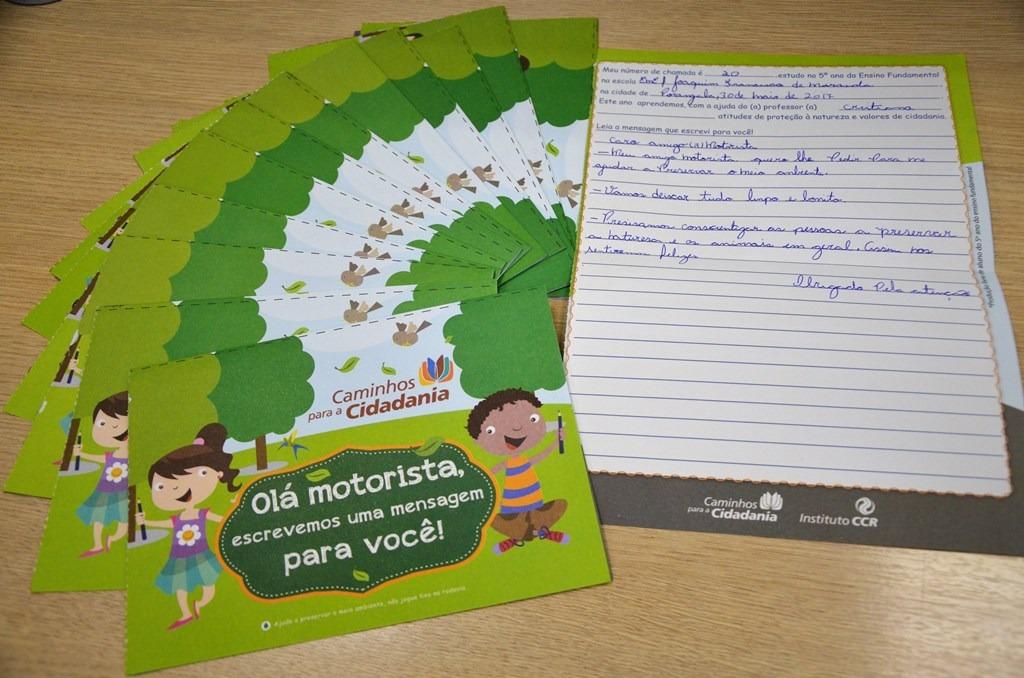 Cartas feita por alunos de Itararé (SP) serão distribuídas esta semana em pedágios