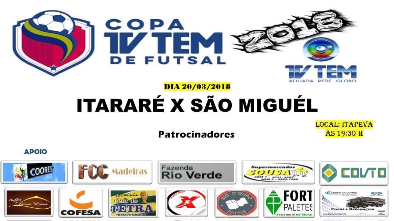 Itararé (SP) estreia na Copa TV TEM de Futsal  nesta terça-feira (20)