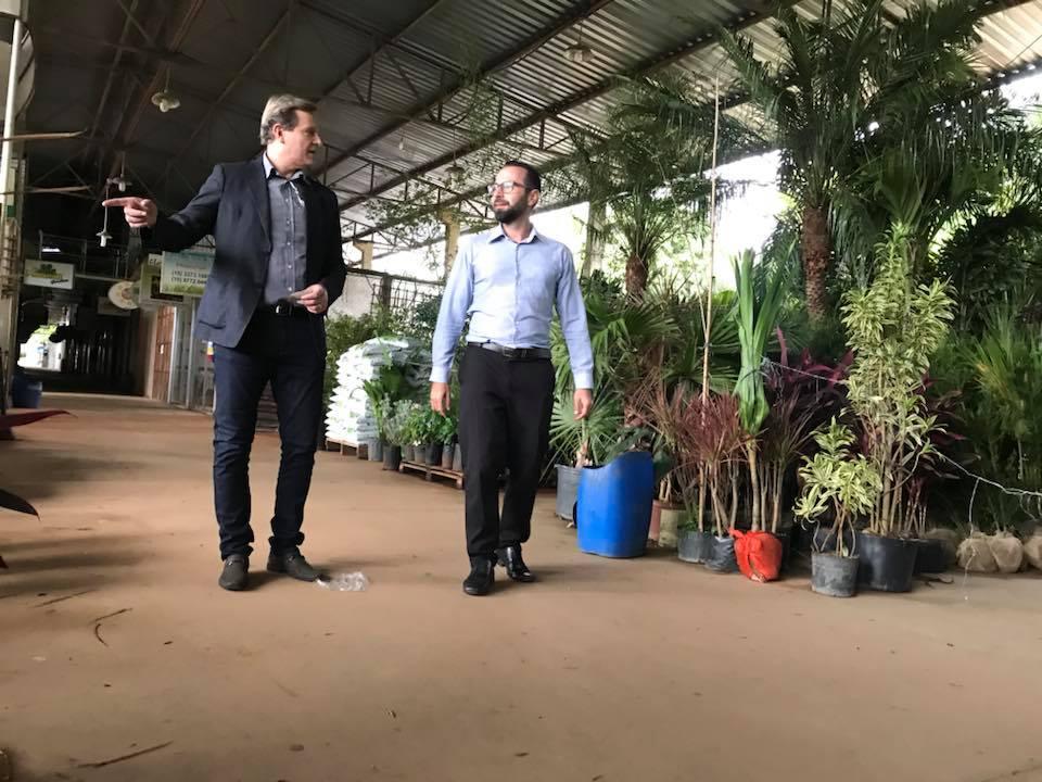 Prefeito de Itararé (SP) visita Ceagesp em Sorocaba (SP)
