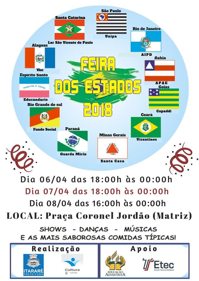 Feira dos Estados começa nesta sexta-feira (06) em Itararé (SP)