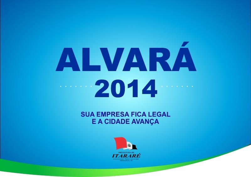 Boletos para o pagamento do alvará 2014 estarão disponíveis a partir de 27/01