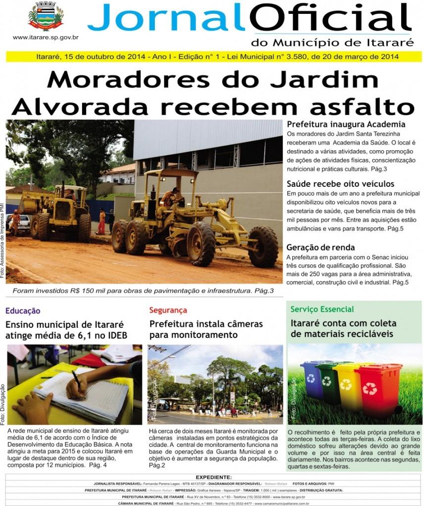Prefeitura lança Jornal Oficial do Município