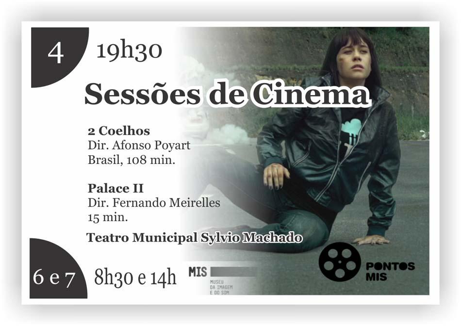 Sábado tem cinema no Teatro Municipal Sylvio Machado!