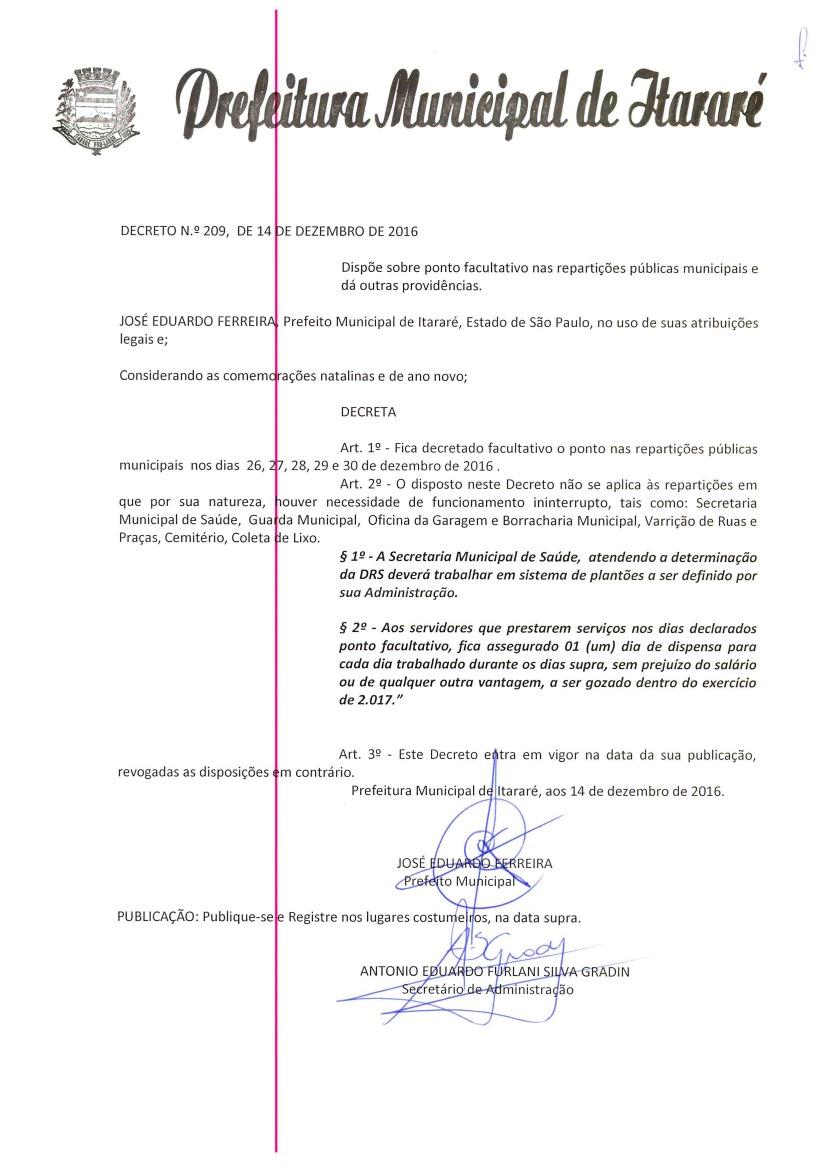 Prefeitura entra em recesso a partir do dia 26