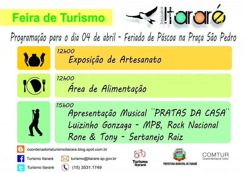 Prefeitura promove Feira de Turismo no feriado de Páscoa