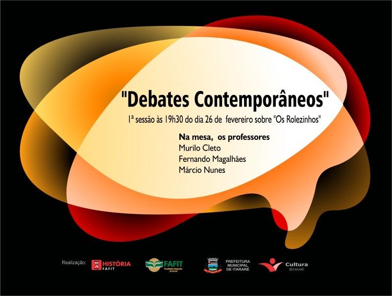 """Quarta-feira acontece a primeira sessão do projeto """"Debates Contemporâneos"""" com abordagem sobre a polêmica dos """"rolezinhos"""""""