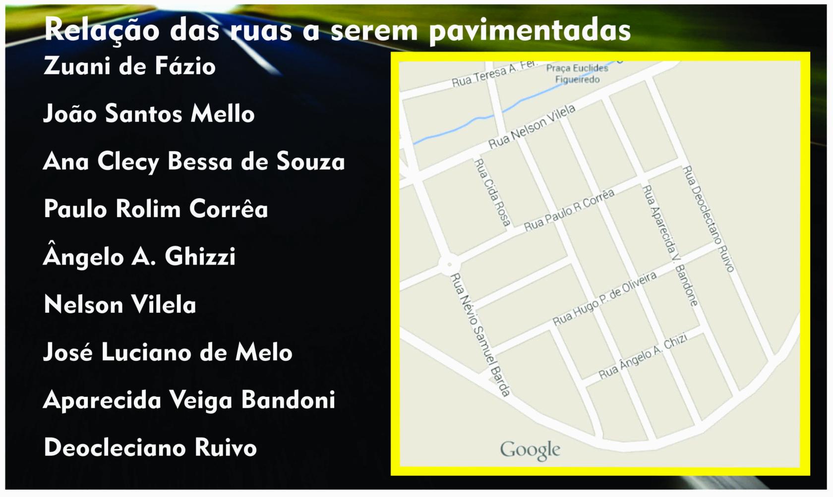 Nove ruas serão pavimentadas em Itararé