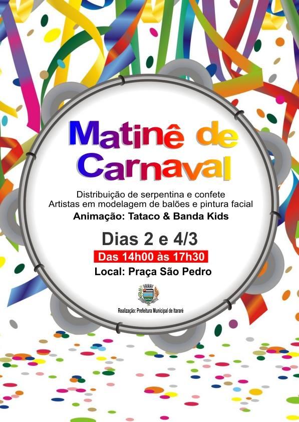 Matinê de Carnaval vai esquentar a Praça São Pedro!