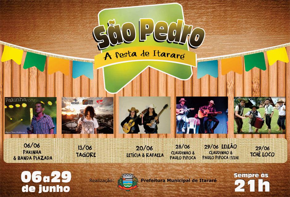 Começa neste sábado a Festa de São Pedro em Itararé!