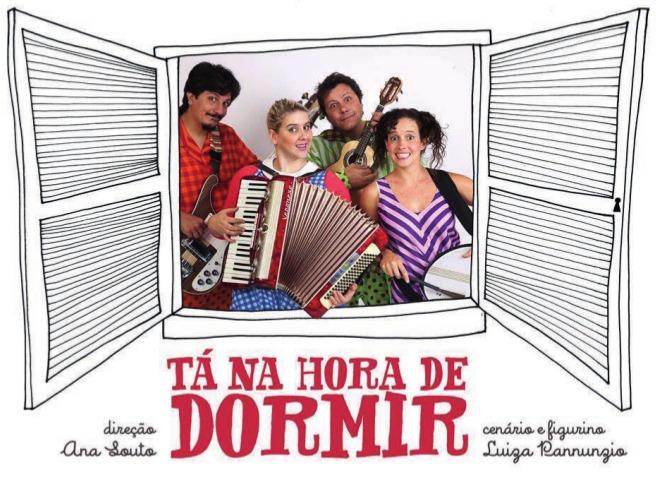 """Musical """"Tá na Hora de Dormir"""" é atração de domingo (11) em Itararé"""