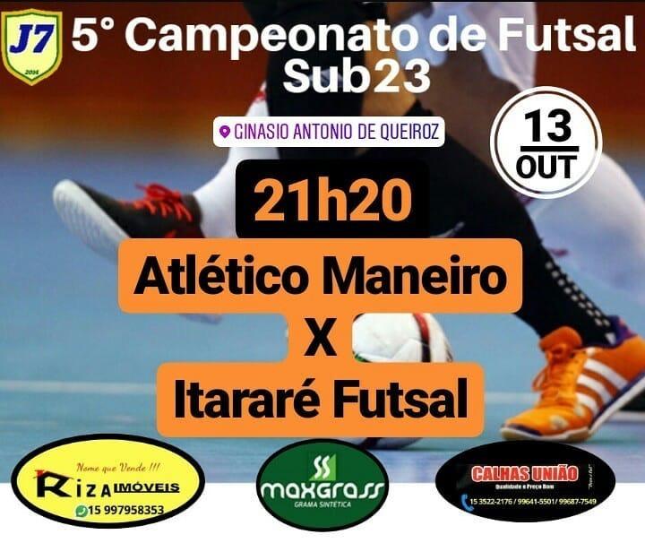 Itararé (SP) busca primeira vitória no 5° Campeonato de Futsal sub-23