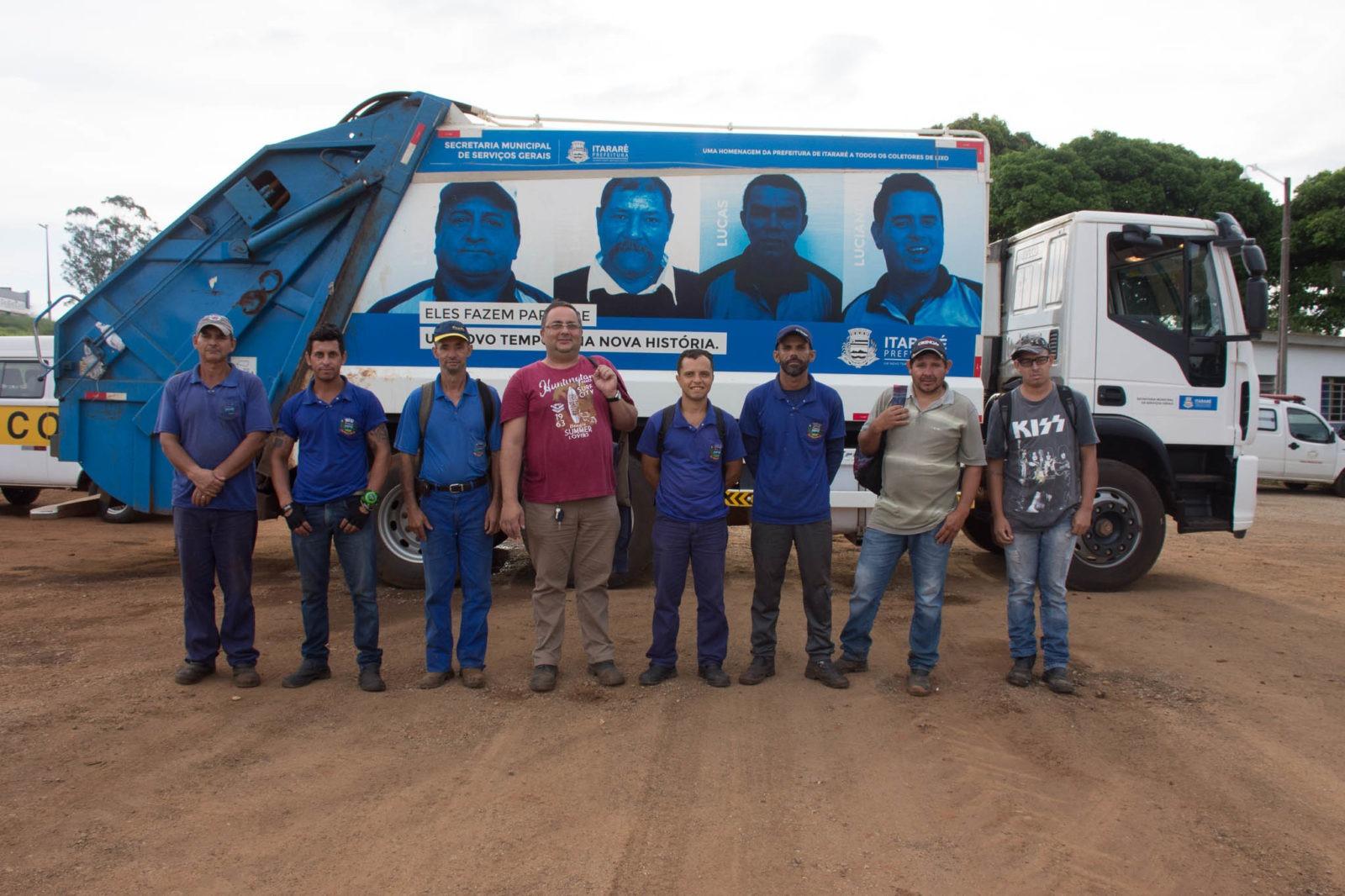 No Dia do Coletor de Lixo, prefeito de Itararé (SP) comemora avanços no setor