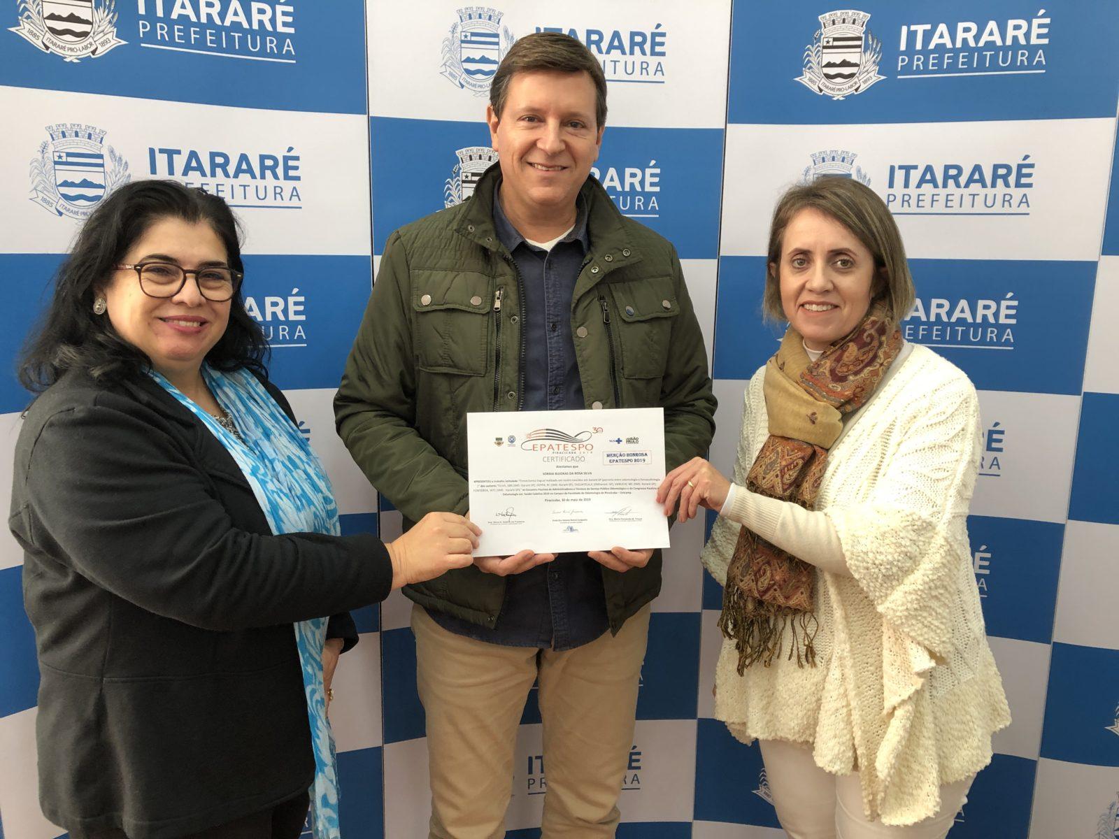 Prefeitura de Itararé (SP) recebe menção honrosa em encontro estadual de Saúde