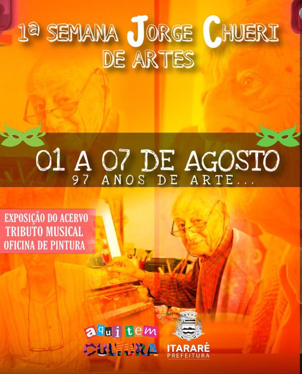 Itararé (SP) 126 anos: Prefeitura promove Semana Jorge Chuéri de Artes