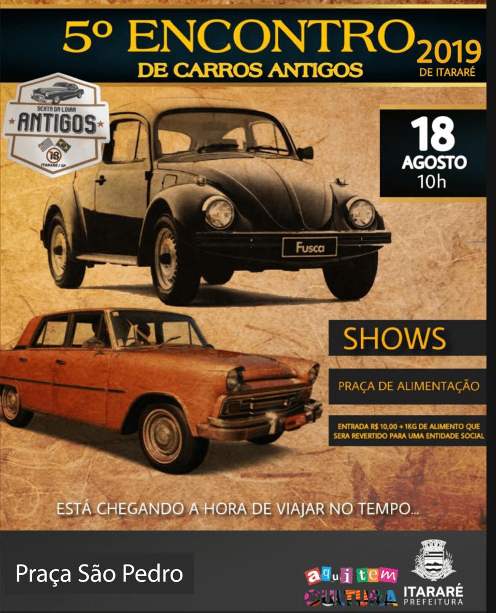 Itararé (SP) 126 anos: 5º encontro de carros antigos acontece neste domingo (18) no município