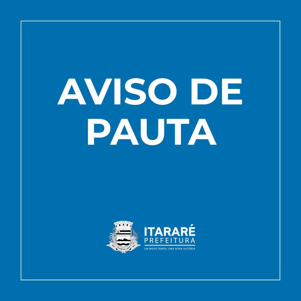 AVISO DE PAUTA: Prefeitura de Itararé (SP) recebe secretário estadual de Infraestrutura e Meio Ambiente nesta quarta-feira (04)