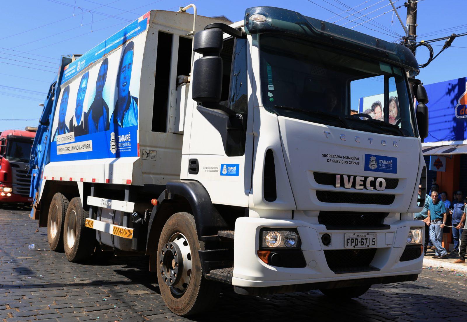 Em Itararé (SP), coleta de lixo será suspensa neste sábado (07), feriado nacional