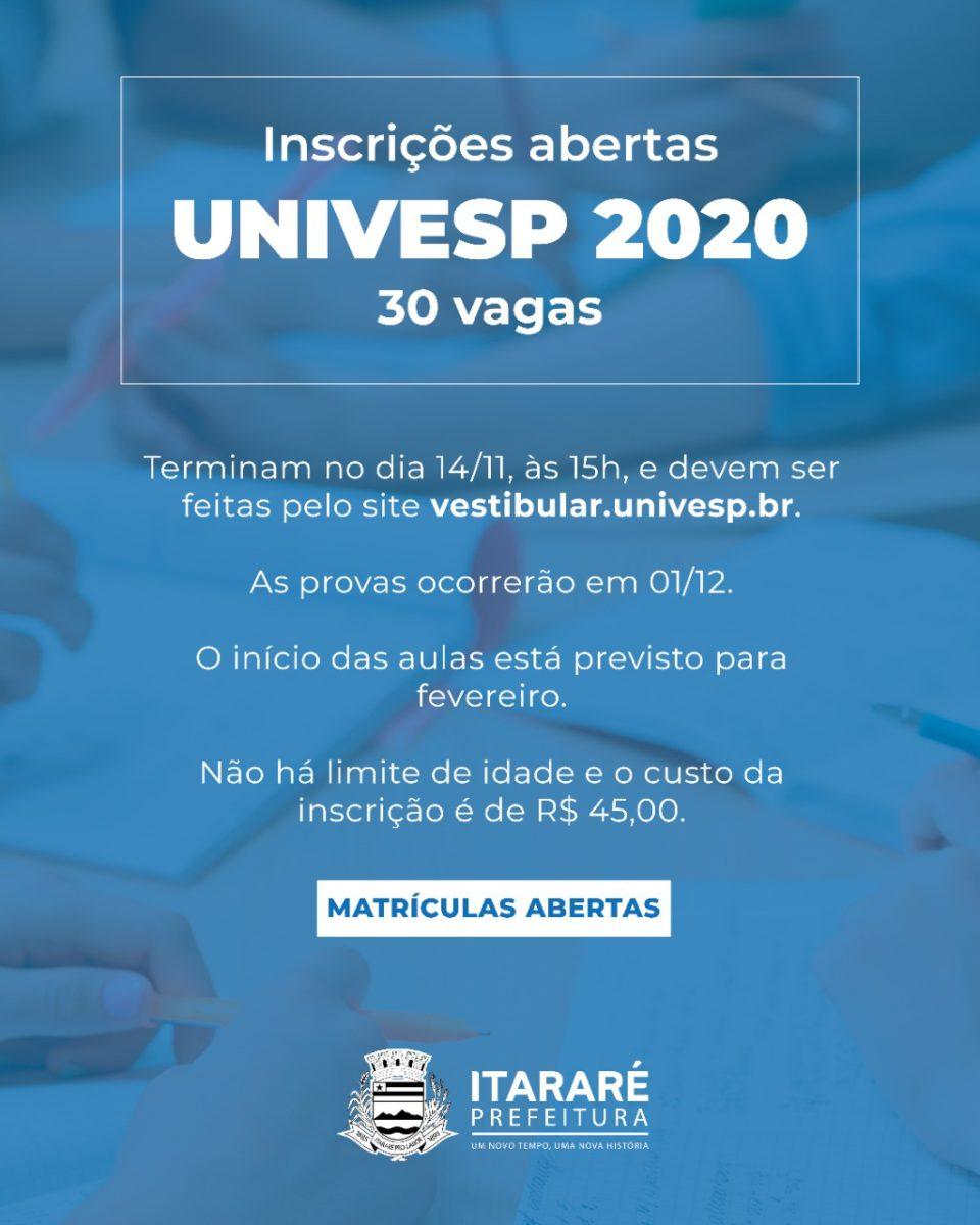 Em Itararé (SP), inscrições para universidade pública já estão abertas