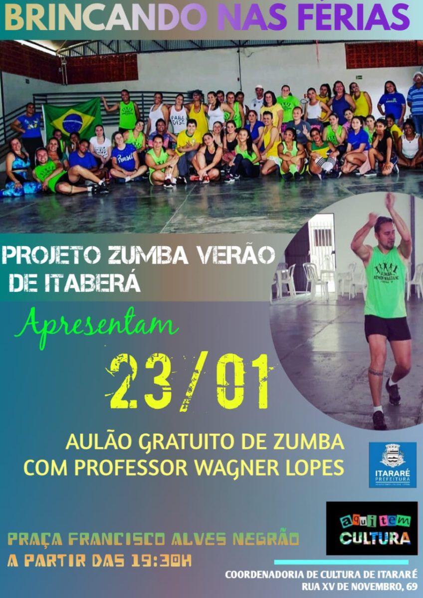 Prefeitura de Itararé (SP) traz projeto 'Zumba Verão' ao município