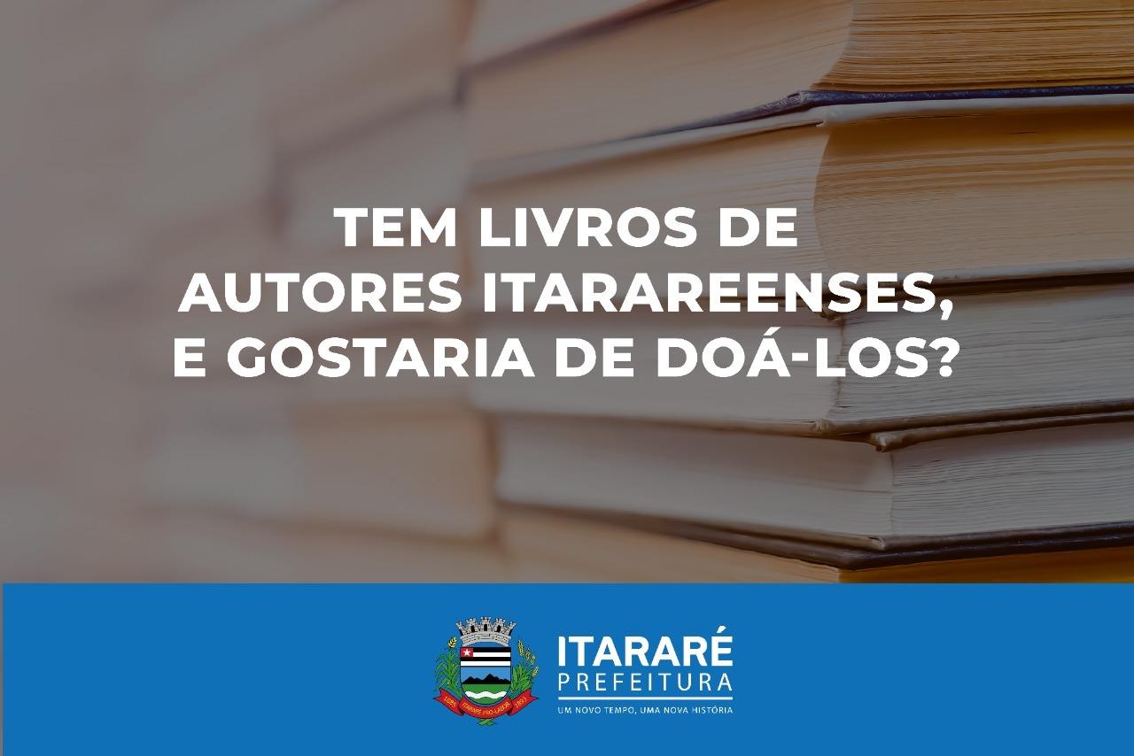 Prefeitura de Itararé (SP) inicia campanha para arrecadar livros de escritores locais