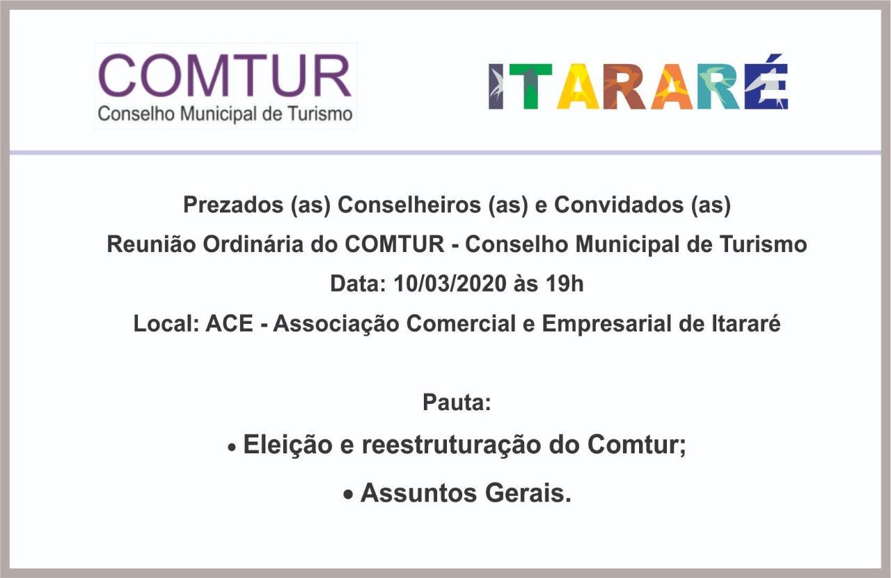 Comtur de Itararé (SP) promoverá eleições na terça-feira (10)