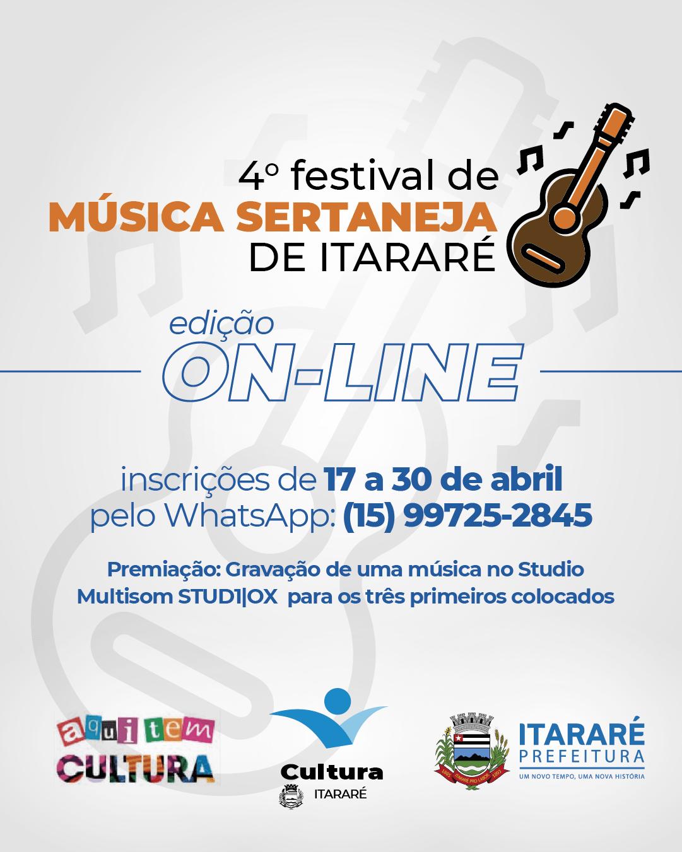Prefeitura de Itararé (SP) abre inscrições para o 4º Festival de Música Sertaneja