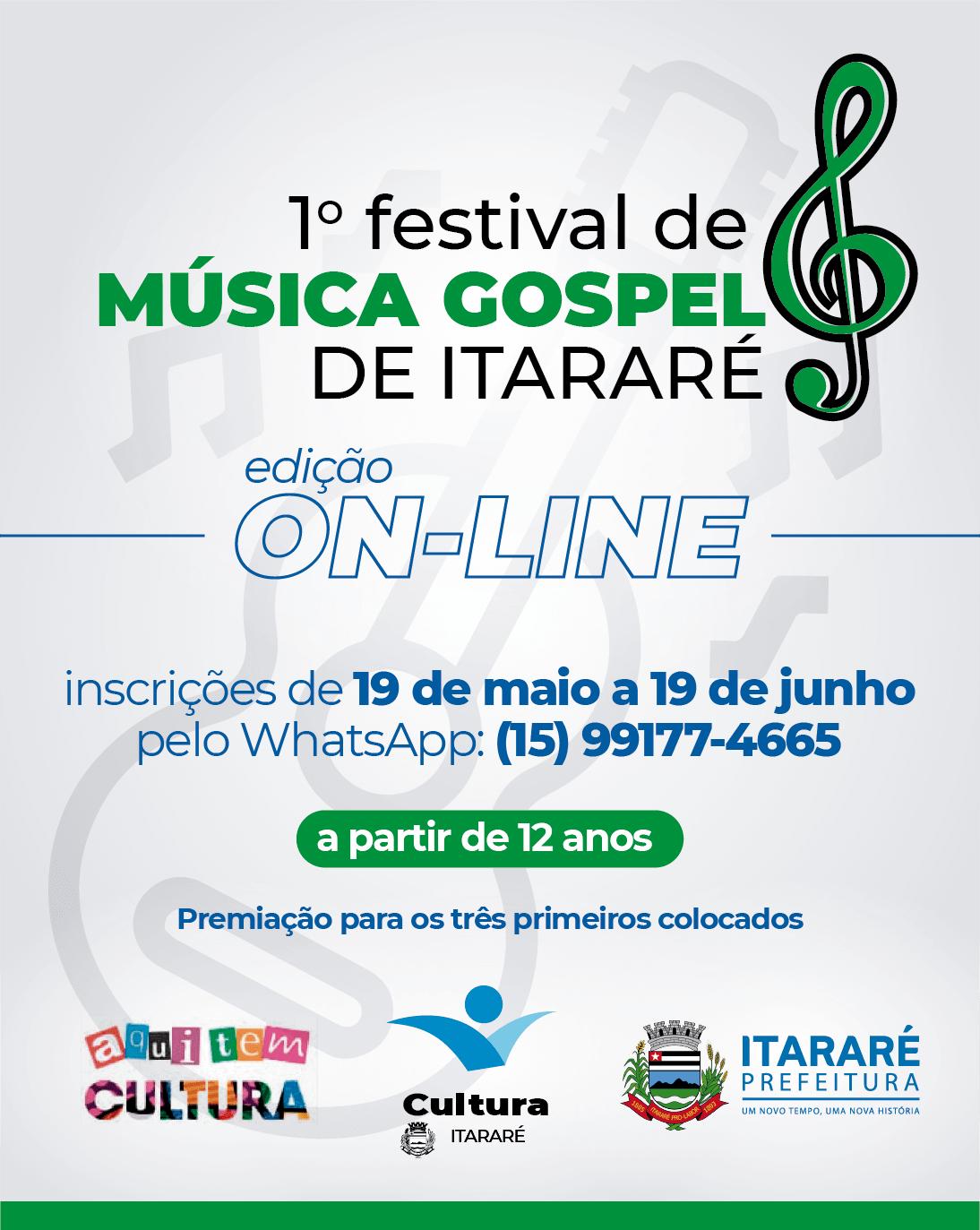 Prefeitura de Itararé (SP) promoverá 1º Festival de Música Gospel