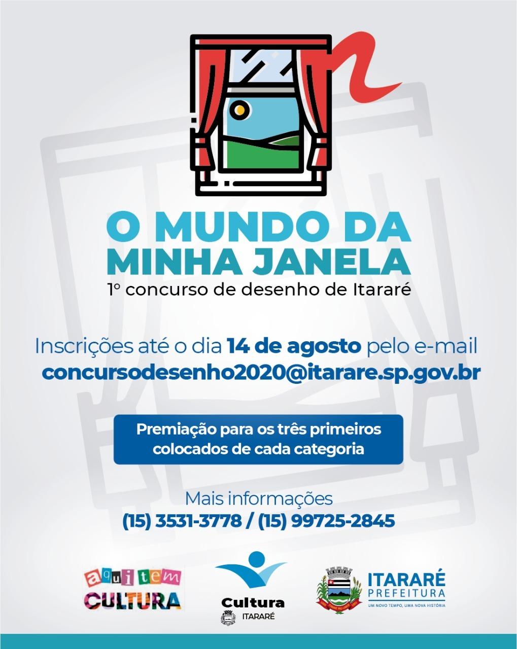 Prefeitura de Itararé (SP) abre inscrições para 1º concurso de desenho do município